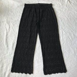 Soft surroundings bikini coverup pants Sz XL mesh